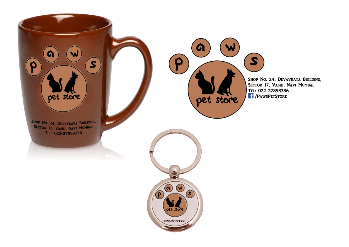 paws pet store point of purchase pop