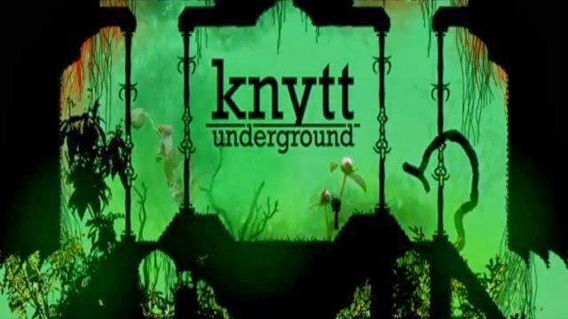 Image of green caves with logo for Knytt Underground
