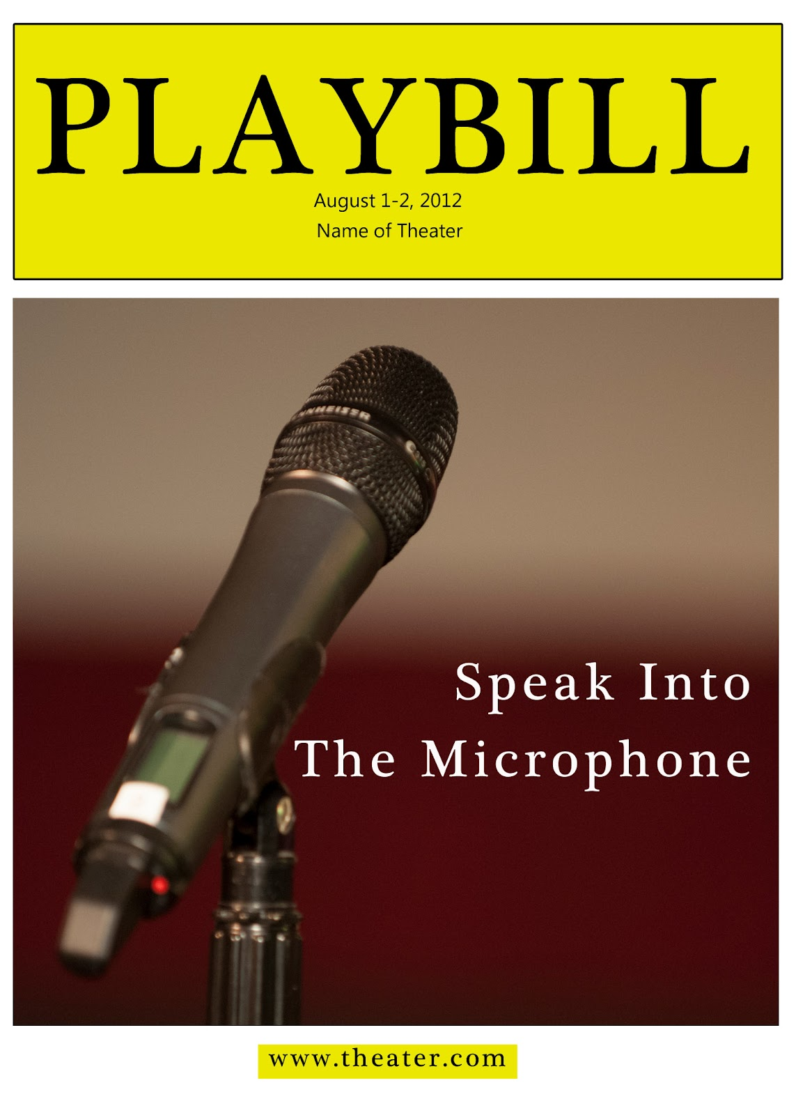Playbill Cover Template