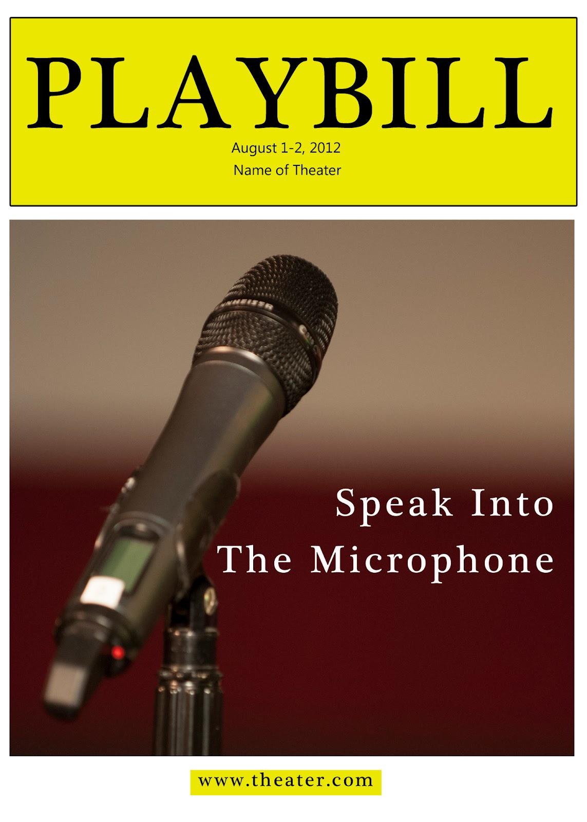 playbill template microsoft word
