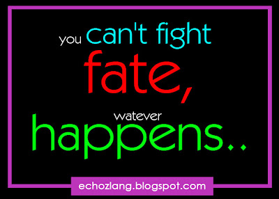 You can't fight faith, whatever happens.