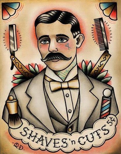 Adesivo De Parede Com Led ~ Barbeiros Vintagers e a História dos Postes de Barbearia