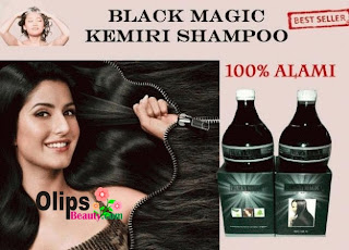 Produk Black Magic Kemiri Shampoo 100% Alami