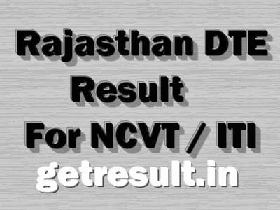 Rajasthan DTE NCVT ITI Result 2015 Cut Off list