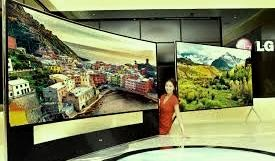 LG announces 105-inch curved glass 4K Ultra HDTV, including the giant 105 -inch, 98 inch, 79 inch and 65 inch curved TV.