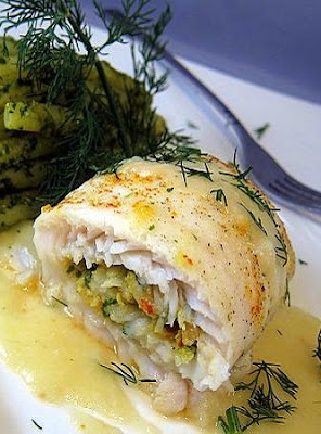 shrimp-stuffed sole recipe