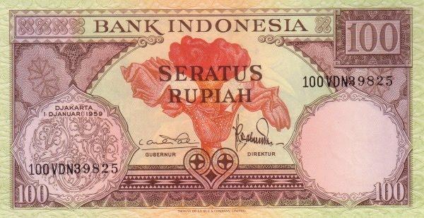 Rp100 tahun 1959