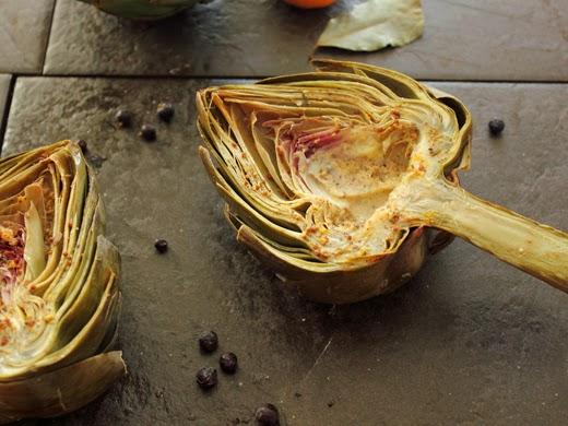 Baked Artichokes with Mandarin Orange, Juniper Berries, Clove, and ...