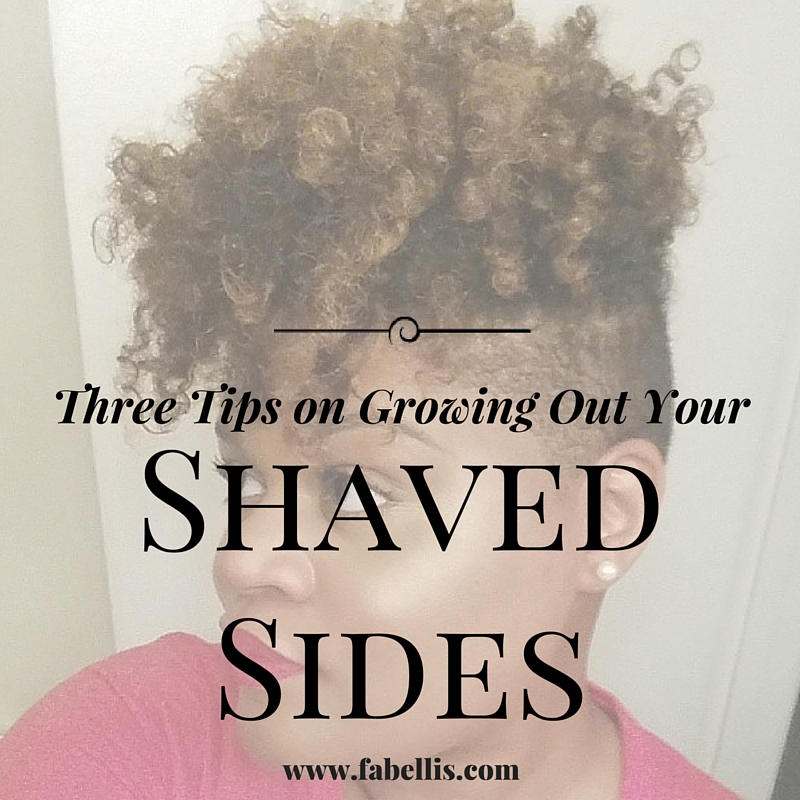 Natural Hair Three Tips On Growing Out Your Shaved Sides Fabellis