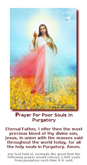 rezo para almas santas