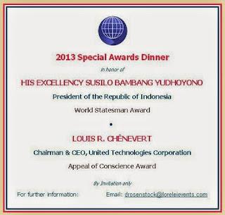 award ACF untuk SBY