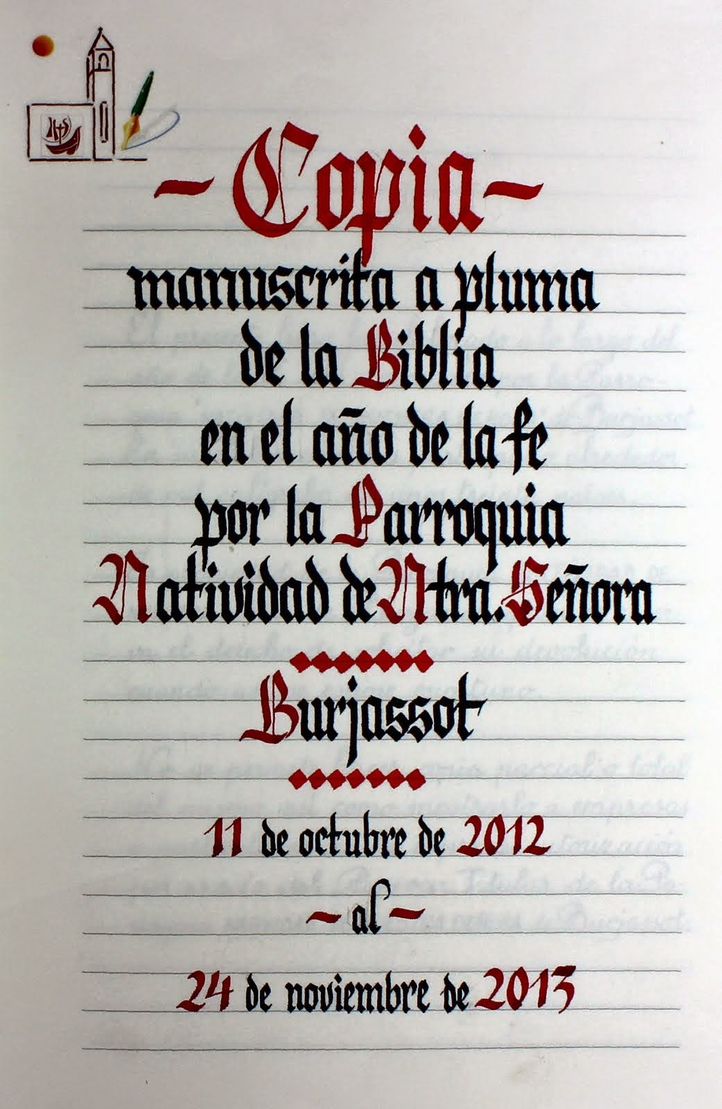 Copia Manuscrita de la Biblia