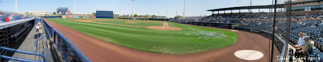 arizona baseball, panorama, view from the field, duggout