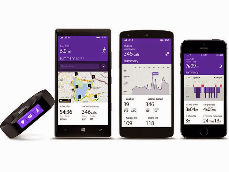 Microsoft Band: the smart band powered by Microsoft Health