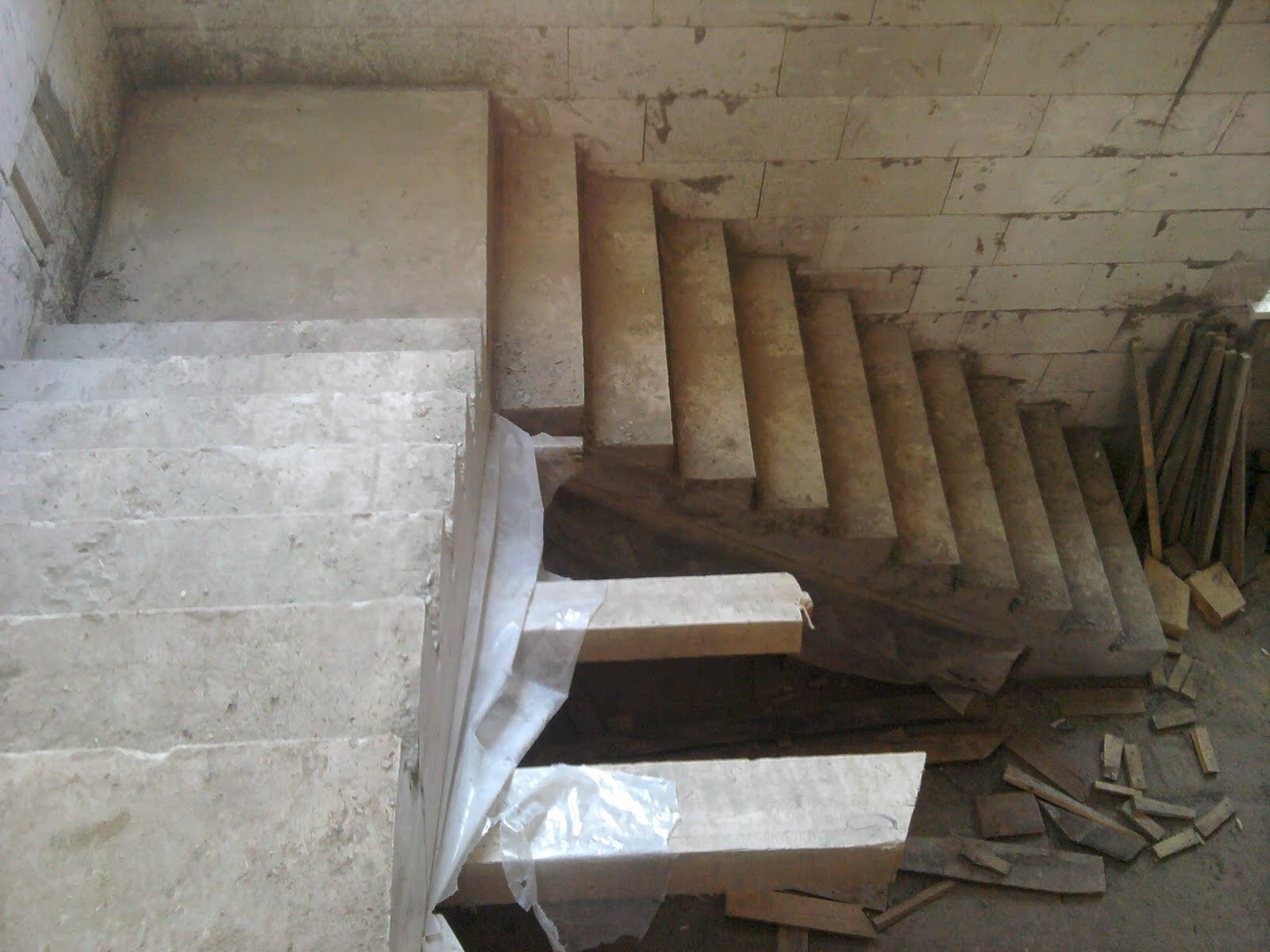 Строю бетонную лестницу своими руками