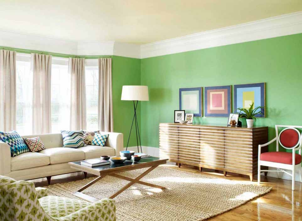 Green On The Wall Painting Ideas