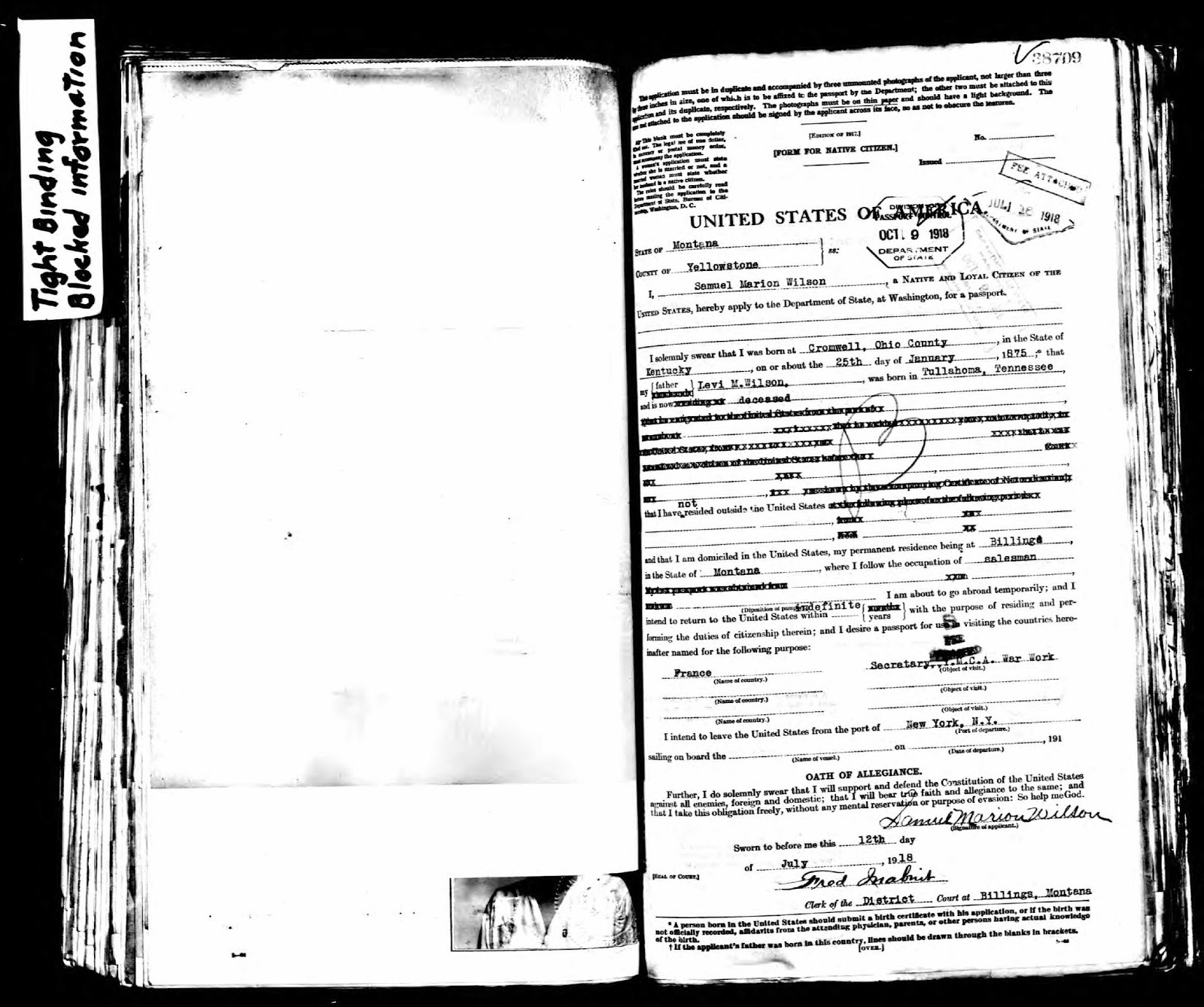 Ohio county kentucky history passport application samuel fathers residence deceased 1betcityfo Image collections
