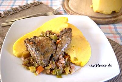 ricetta Fagianella in salmì con porri e pancetta ricetta secondi