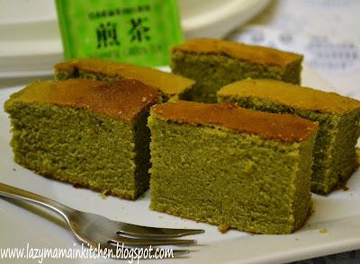 Green Tea Chiffon Cake Christine