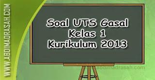 Soal UTS Kelas 1