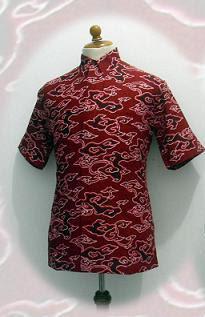 baju-batik-pria-merah