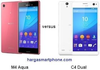 Harga dan Perbedaan Sony Xperia M4 Aqua dengan C4 Dual