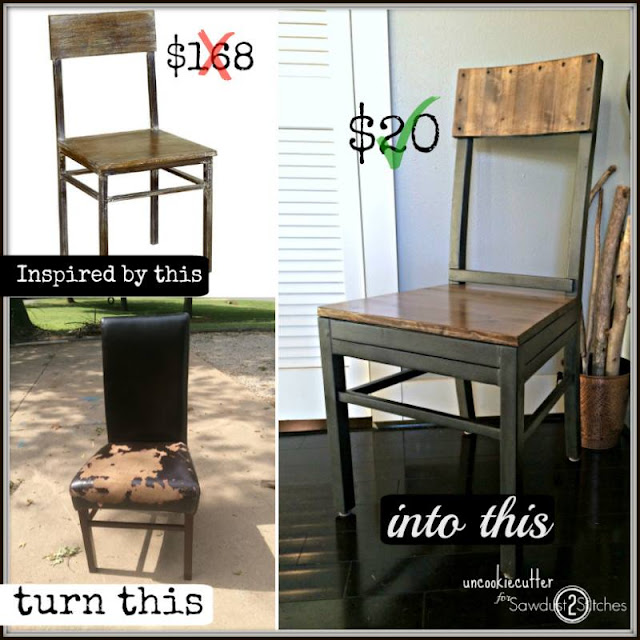 how to make diy industrial chairs, how to make farm table and chairs, industrial, wood chairs, how to make chairs for cheap