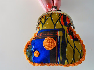 crochet and wax purse porte monnaie crochet et wax