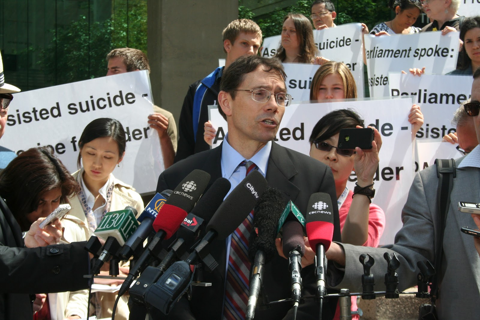 a stand against assisted suicide The choice of physician-assisted suicide is an illusion  a third party ( including someone who stands to benefit financially from the patient's death)  could  consent, even if the patient changed her mind and struggled against the  overdose.