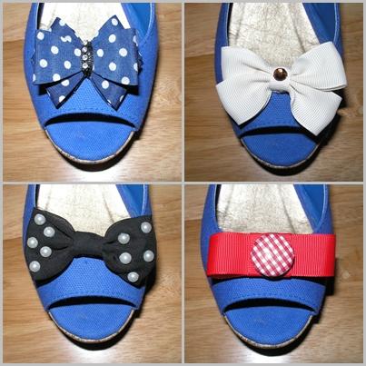 DIY clips chaussures rétro vintage