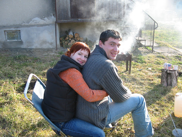 Happy couple (Ternopil, West Ukraine)