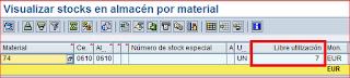 MB52 listado de stokcs SAP