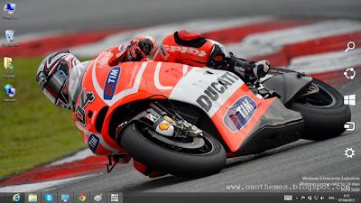 Andrea Dovizioso Motogp 2013 Theme For Windows 7 And 8