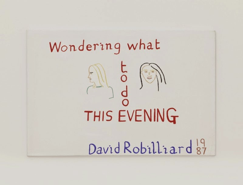 David Robilliard, Wondering What to Do this Evening, 1987, acrylic on canvas. Photograph: Paul Knight. Courtesy collection Chris Hall. © The Estate of David Robilliard. All rights reserved. DACS 2014.