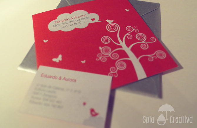 invitacion boda EyA Gota Creativa