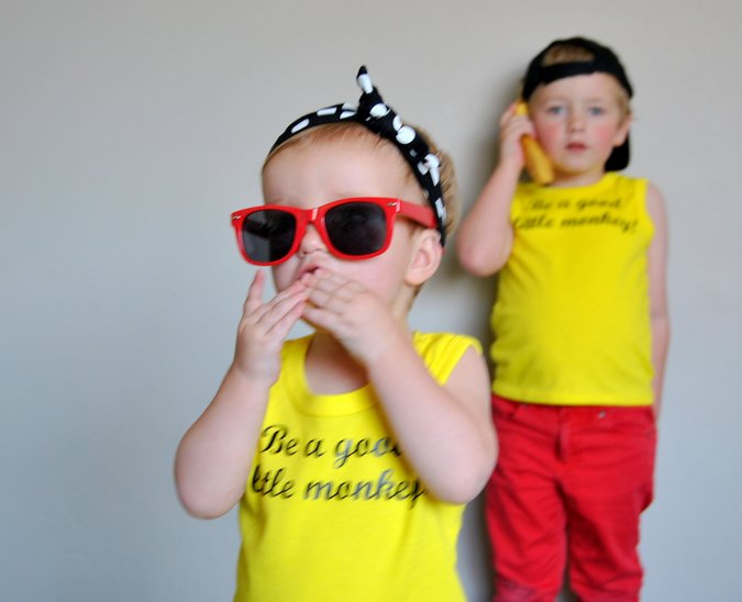 DIY Curious George shirts