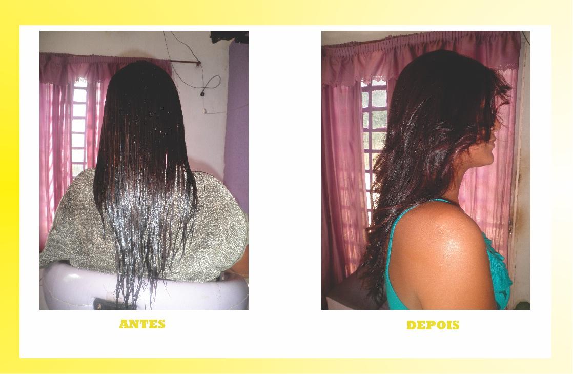 A loja online quer dizer para um endireitamento de cabelo de queratina
