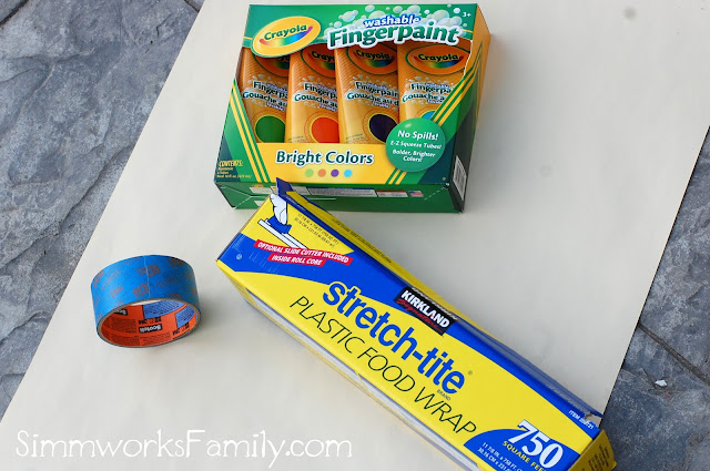 DIY No Mess Finger Paint supplies