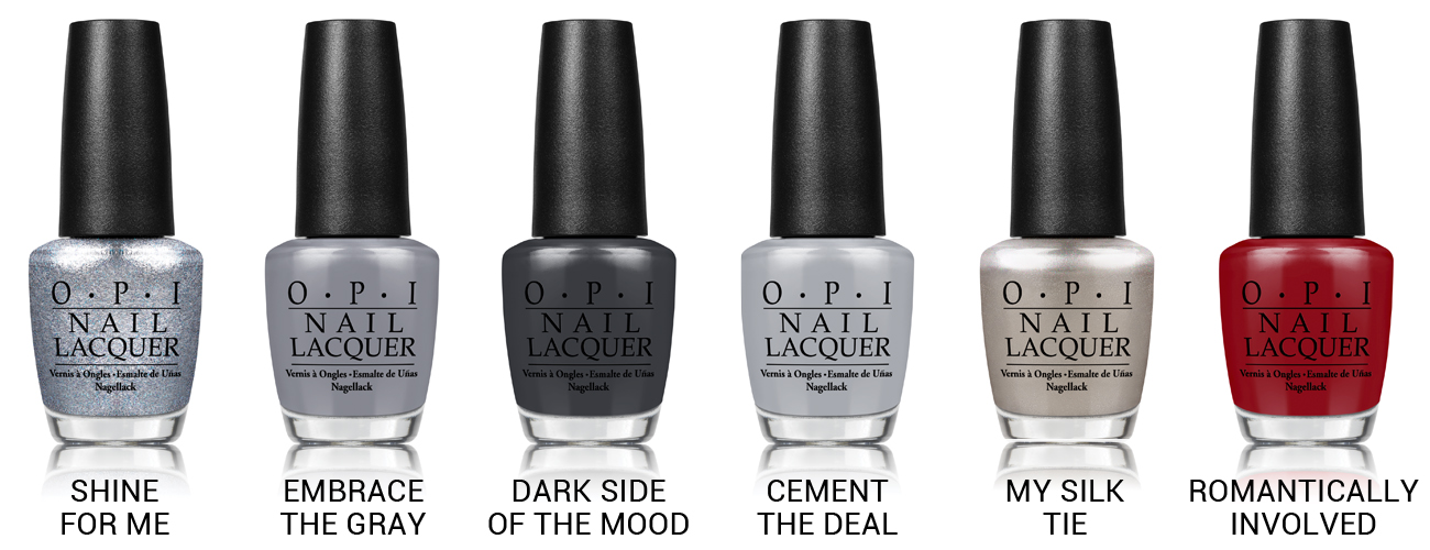 OPI Fifty Shades of Grey Collection via @chalkboardnails