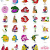 The Little Mermaid - 85 disney embroidery designs