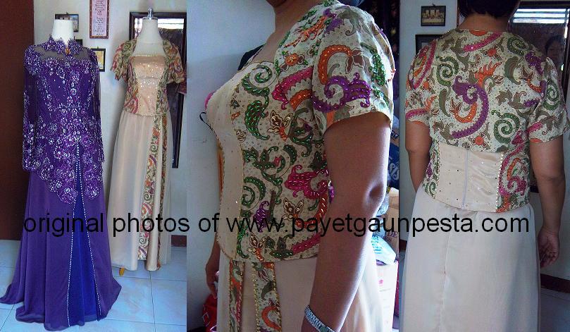 Payet Gaun Pesta | Desain Baju Pesta, Kebaya Modern dan Gaun Pengantin ...