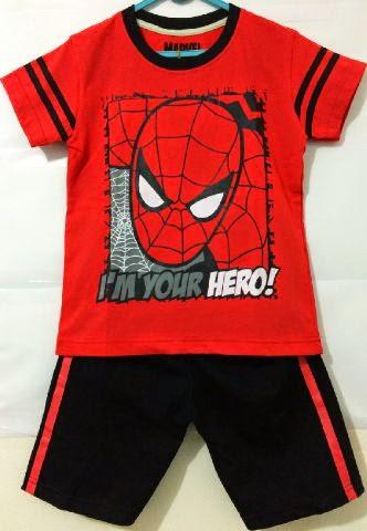 grosir setelan anak karakter spiderman