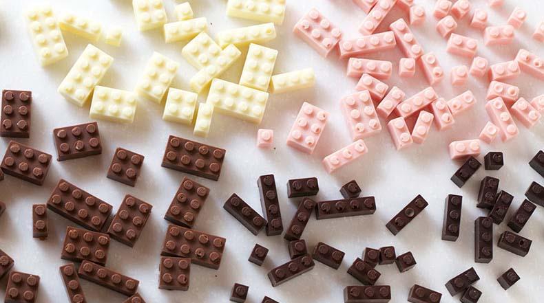 Ladrillos LEGO comestibles son completamente funcionales para la construcción y los bocadillos