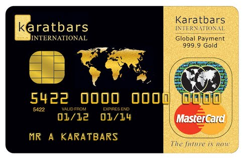 Karatbars MasterCard Debit Card