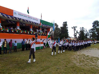 independence day march past by students