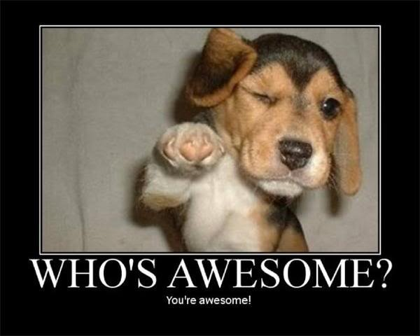 whose awesome   YOU ARE