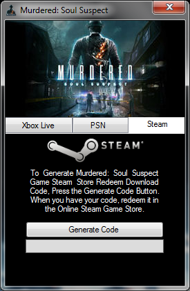 Murdered: Soul Suspect Keygen Steam