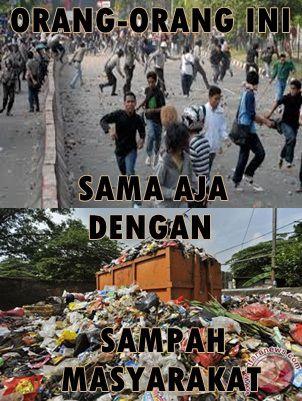Orang-Orang yang Sama Saja dengan Sampah Masyarakat