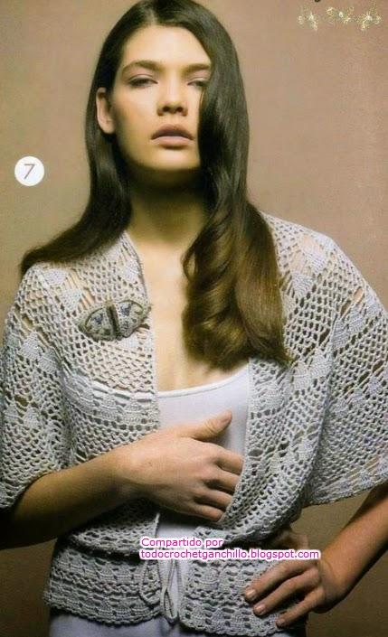 Bolero-capa al crochet