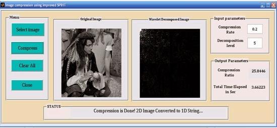 how to set compression ratio matlab
